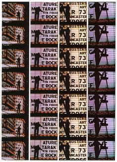 "Filmstrips from ""Broadway by Light "" # 4, New York"
