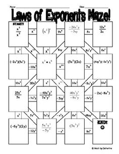 laws of exponents 2 day lesson of worksheets games students learning and math. Black Bedroom Furniture Sets. Home Design Ideas