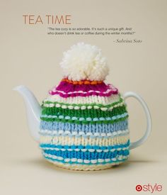 We've gone from dissing things that look handmade to having it become a trend worth mass-production and mass-marketing, apparently. Gift Idea: A Sweater for your Tea Kettle Right? - Target - On The Dot Sabrina Soto, Teapot Cover, 3 Best Friends, Tea Cozy, Target Style, Best Tea, Drinking Tea, Kettle, Tea Time