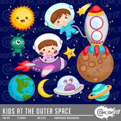 50% OFF !! Kids at the Outer Space Clipart / Digital Clip Art for Commercial and Personal Use / INSTANT DOWNLOAD by comodo777 on Etsy https://www.etsy.com/uk/listing/271648216/50-off-kids-at-the-outer-space-clipart