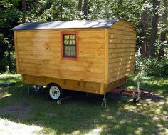 Custom built Camper Tiny Travel Trailer Teardrop Vardo Gypsy Wagon