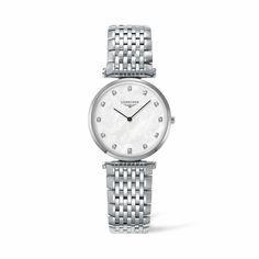L4.512.4.87.6 Γυναικείο quartz ρολόι LONGINES La Grande Classique με φίλντισι & διαμάντια | Ρολόγια LONGINES στο κοσμηματοπωλείο ΤΣΑΛΔΑΡΗΣ στο Χαλάνδρι #longines #ρολόγια