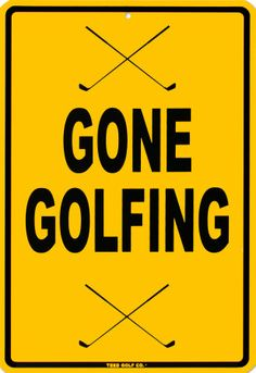 Gone Golfing! Don't Disturb! #golf #lorisgolfshoppe