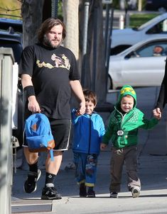 Famous Fathers Get Cute With Their Kids! - Famous Fathers Get Cute With Their Kids! ran errands with his sons, Samuel and Thomas, - Kyle Gass, Tenacious D, Terry Crews, Star Family, Hollywood, Celebrity Babies, Celebrity Style, Matthew Mcconaughey, Jack Black