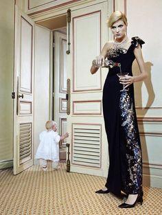 """The Vagaries of Fashion"" Anja Rubik by Miles Aldridge for Vogue Italia September 2007"