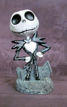 3313f280d21 RARE! Disney Nightmare Before Christmas Jack Skellington Figure Statue New!  Bust Disney Figurines