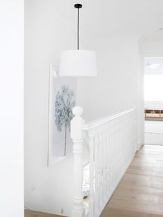 Hudson 3 Light Drum Pendant in White