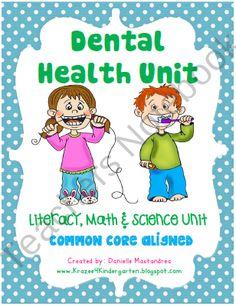 Dental Health Unit-Common Core Aligned product from Krazee4Kindergarten on TeachersNotebook.com