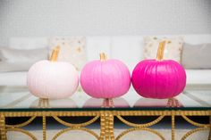 Pink pumpkins decoration