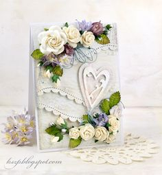 Hello everyone :) For today I prepared a wedding card. Anniversary Crafts, Wedding Anniversary Cards, Wedding Cards, Hand Made Greeting Cards, Greeting Cards Handmade, Lemon Crafts, Valentine Love Cards, Valentines, Shabby Chic Cards