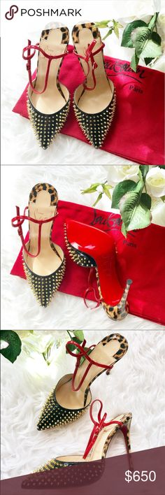 77436261561e Christian Louboutin Balia Spike ankle strap pump Brand new never worn  louboutin heels 100mm