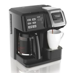 Brew a cup of coffee for yourself or a carafe for the whole family with the FlexBrew Coffee maker from Hamilton Beach. Featuring dual heaters for the carafe and single-serve mug, this versatile brewer accommodates coffee grounds and K-cups. Single Coffee Maker, Best Coffee Maker, Single Serve Coffee, Drip Coffee Maker, Coffee Machine, Espresso Machine, Walmart, Hamilton Beach, Coffee Type