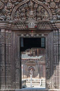 Beautiful Nepalese temple door