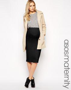Изображение 1 из Фактурная юбка-карандаш для беременных ASOS Maternity