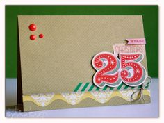 ...{Sylvias Stamping Place}... Christmas Card from Scraps and Leftovers by Sylvia Blum