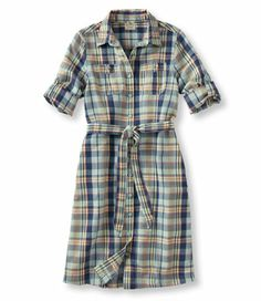 Must get! Maybe I'll order now & wear after baby! Linen Cotton Dress, Plaid: Dresses | Free Shipping at L.L.Bean