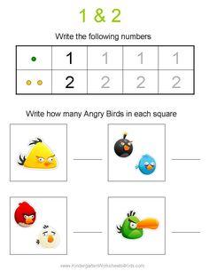 Angry Birds Math Worksheets for Kindergarten | Preschool Material ...
