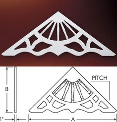 Fypon Gable Decorations | Fypon Gable Pediments, Gable Decorations, Victorian Gable Pediments ...