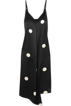 Petar Petrov | Dee asymmetric polka-dot silk-satin dress | NET-A-PORTER.COM