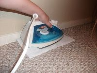 How to get Scentsy wax out of your carpet.