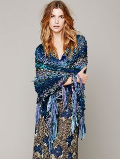 PunkRocKnits for Free People 2013! Wool Sari Ribbon Shawl, $428.00