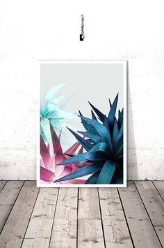 Tropical Leaf Printable Botanical Wall Print Tropical Wall