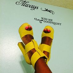 Keisha in the #ShoeCult Buckle Up Platform in Yellow | Get the shoes: http://www.nastygal.com/product/shoe-cult-buckle-up-platform?utm_source=pinterest&utm_medium=smm&utm_term=ngdib&utm_content=the_cult&utm_campaign=pinterest_nastygal