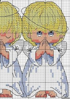 Embroidery Three angels3