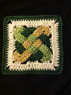 Ravelry: Project Gallery for Celtic Knot Squares pattern by Carola Wijma