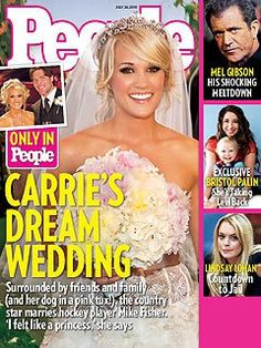 Carrie Underwood posed for a July 2010 People magazine cover | The Ultimate Celebrity Wedding Gallery | POPSUGAR Celebrity