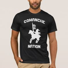 Comanche Nation T-Shirt warrior chief symbol native american indians tribe flag
