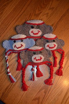 Ravelry: Baby Sock Monkey Hat pattern by Mary Hodges. Free