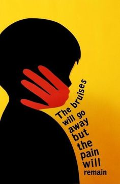 This poster was designed concerning the issue of child abuse.