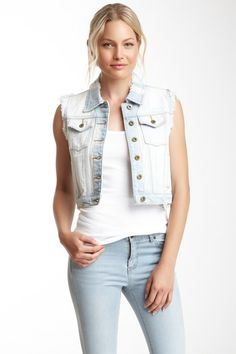 Distressed Jean Jacket by Costa Blanca on @HauteLook