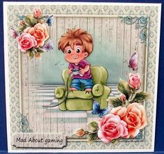 Addicted on Craftsuprint designed by Lajla Olsen - made by Cheryl French - Printed onto glossy photo paper. Attached base image to card stock using ds tape. Built up image with 1mm foam pads. - Now available for download!
