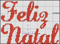 em ponto cruz  Feliz Natal Christmas Cross, Felt Christmas, Swedish Christmas Decorations, Family History, Cross Stitch Patterns, Natal Baby, Rena, Diy, Cross Stitch Letters