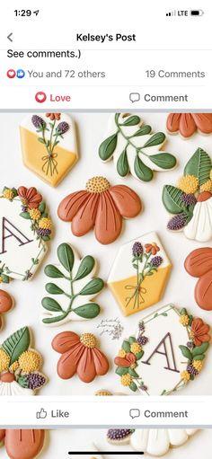 Flower Sugar Cookies, Leaf Cookies, Mother's Day Cookies, Crazy Cookies, Iced Sugar Cookies, Fall Cookies, Easter Cookies, Birthday Cookies, Holiday Cookies