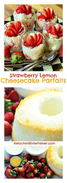 Strawberry Lemon Cheesecake Parfaits for #Easter #Springtime #Entertaining