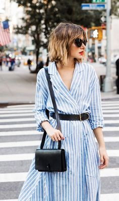 Day 29: Belt an oversize dress at the waist for a flattering look.