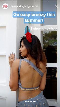 Lengha Blouse Designs, Sari Blouse, Saree Look, Indian Designer Wear, Indian Wear, Indian Outfits, Backless, Blouses, Sexy
