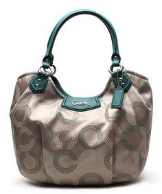 Look at this Khaki Denim Pleat Ashley Tote by Coach Coach Handbags, Purses And Handbags, Coach Purses, Coach Bags, Fab Bag, Womens Purses, Fashion Bags, Jewelry Stores, Jewelry Gifts
