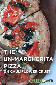The Margherita was created to resemble the colors of the Italian flag. stayed true t. Cauliflower Crust, Cauliflower Recipes, Veggie Recipes, Low Carb Recipes, Cooking Recipes, Healthy Recipes, Healthy Foods, Free Recipes, Healthy Eating Schedule