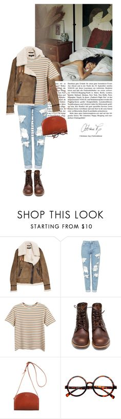 """""""damselfly - Loyle Carner"""" by rosa-loves-skittles ❤ liked on Polyvore featuring rag & bone, Topshop, Chicnova Fashion, Red Wing, A.P.C. and Retrò"""