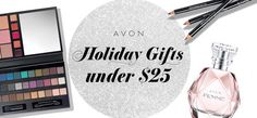 Use the handy Avon Holiday Gift Guide to shop for gifts under $25 for the holidays! #AvonRep www.beautybossshop.com