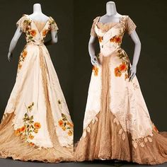 Evening dress, by the House of Worth, ca. 1902. Museum of Fine Arts Boston