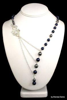 Collar asimétrico de perlas