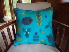 Custom order wet felted fabric made by Leslie Cervenka/ Bluebird Woolen Arts