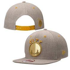 New Era Golden State Warriors Flax Logo Glint Original Fit 9FIFTY Adjustable Hat
