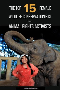 15 Inspirational Women who are Wildlife Conservationists & Animal Rights Activists. For Women's History Month & International Women's Day, we spotlight 15 women who are saving endangered species around the planet. Inspirational Women In History, Inspiring Women, Wild Life, Dian Fossey, Elephant Nature Park, Save Wildlife, Asian Elephant, Wildlife Conservation, Women's History