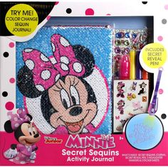 This Minnie Mouse Secret Sequins Journal will make a perfect gift for any little Disney fan who is getting a start in journal writing! This features Minnie on the cover on sequins. Disney Stitch Tattoo, Jojo Siwa Bows, Secrets Revealed, Lol Dolls, 9th Birthday, Change, Balloon Decorations, Hello Kitty, Minnie Mouse